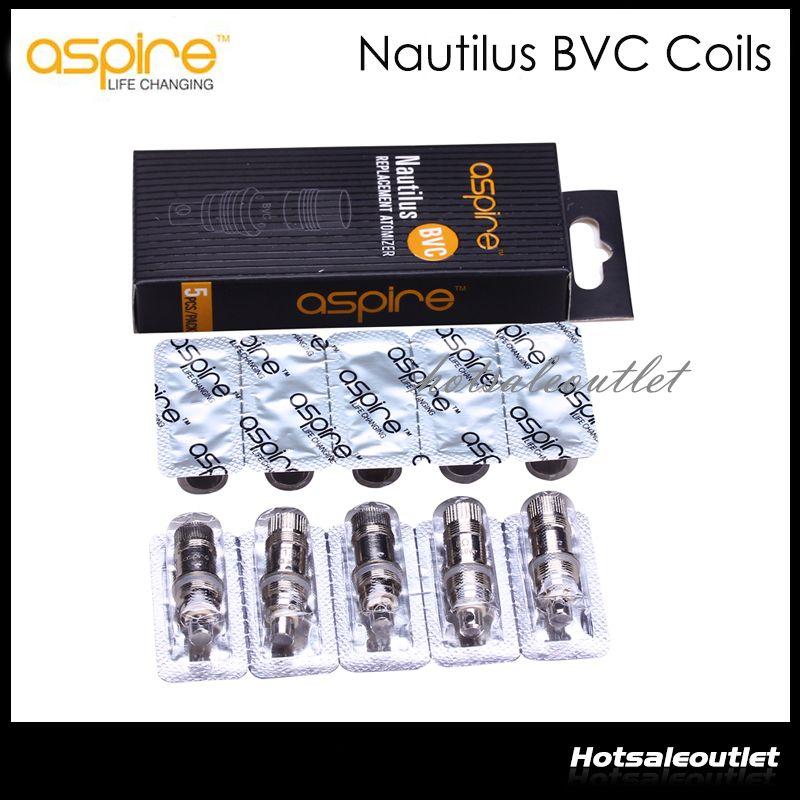 Aspire Nautilus BVC Bobine Testa Sostituire Bobina Aspire Nautilus Mini Nautilus Serbatoio 1.6 1.8ohm Inferiore Bobina Verticale Spedizione gratuita