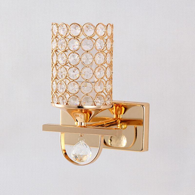 Led Flurbeleuchtung Dekoration | 2018 Golden Silver Crystal Led Wall Lamp The Sitting Room Bedroom