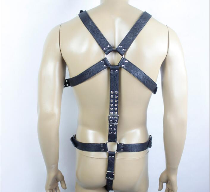 Ultime maschio tutto il corpo pu costume tuta bondage cintura di pelle collant Erotic Posizionamento Bandage castità dispositivo giocattoli adulti bdsm sesso A017
