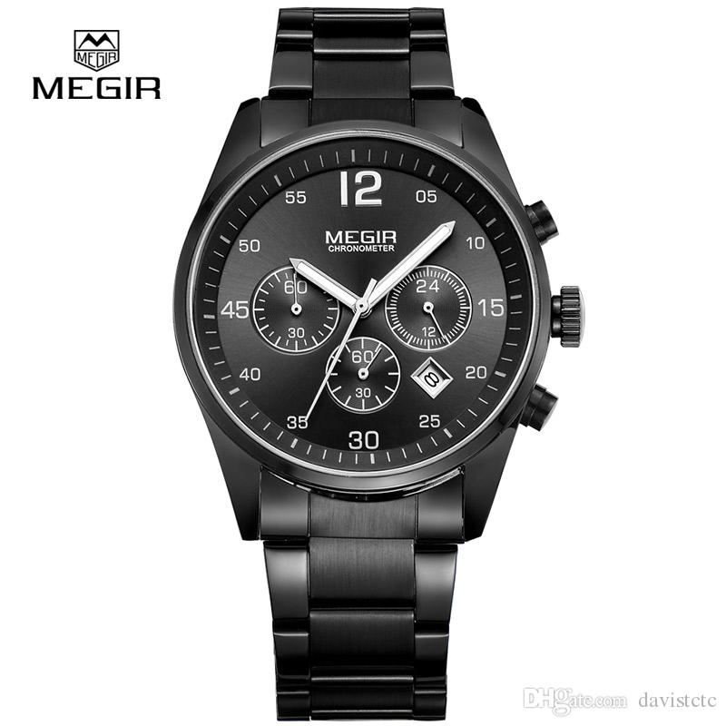 e7999e5501 MEGIR Mens Watch Waterproof Outdoor Sports Military Army Stylish ...