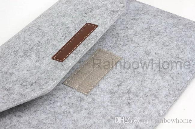 Premium Felt Protective Sleeve Pouch Bag For Macbook Air Pro Retina 12 13 15 inch Laptop PC Travel Storage Handbag Business Casual Style