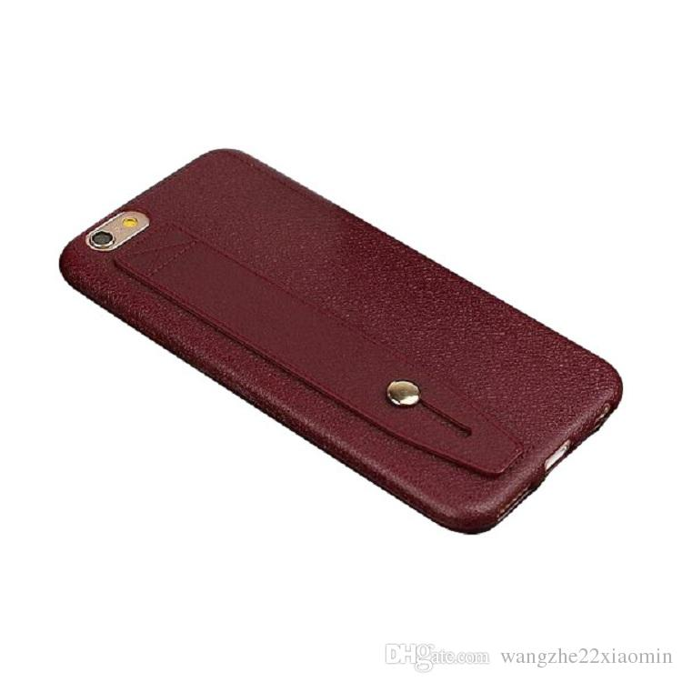 estilo de negócios por atacado super fino pu couro kickstand capa titular case para iphone 6 6 plus fpr iphone 7 7 plus telefone macio case