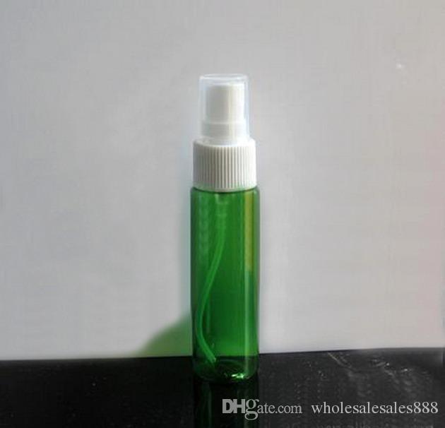 Factory Price Perfume Bottle Empty Plastic Fine Mist Spray Bottle Pump Refillable Cosmetic Perfume Atomizer 30ML Green