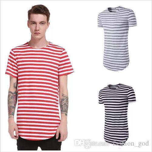 4ba1c9fd40 Men T Shirts Summer Striped Shirt Casual Brand Tops Youth Streetwear Male  Short Sleeve T Shirt Slim Fashion Blusas Men's Clothing New B2540