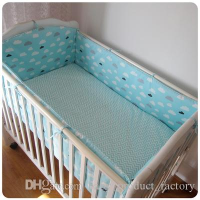 Promotion! Baby Cot bedding set 100% cotton baby bumper set bedclothes bed decoration bumpers+sheet+pillow cover