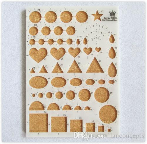 DIY Quilling Template Pattern Board for Paper Strips Decorative Design - mix colors LA0137B wholesale