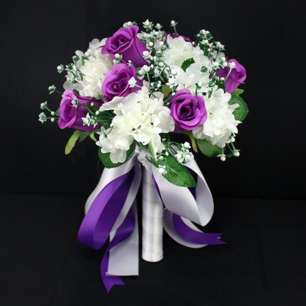 High Quality Handmade Simulation Flower Bouquet Western Style Elegant Wedding Business Photography Props Anniversary Flowers