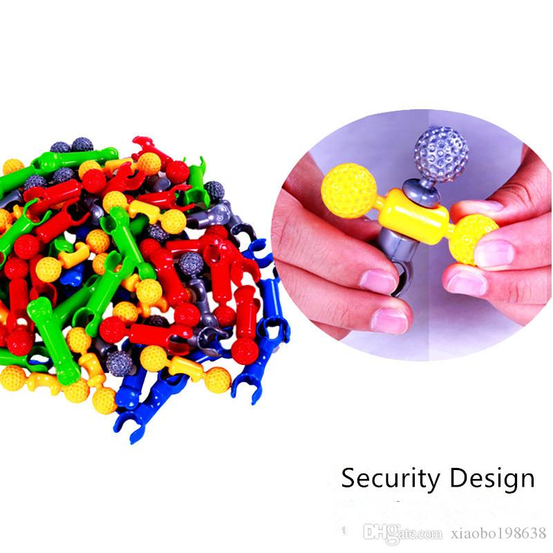 Early education Variety assembled pieces DIY DIY fight skeleton structure rods set children puzzle parent play toys