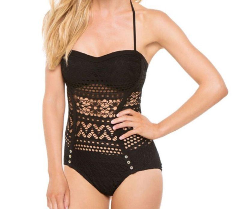 2016 donne sexy pizzo uncinetto costumi da bagno costume intero new fashion halter top monokini costumi da bagno vintage lady beachwear tute