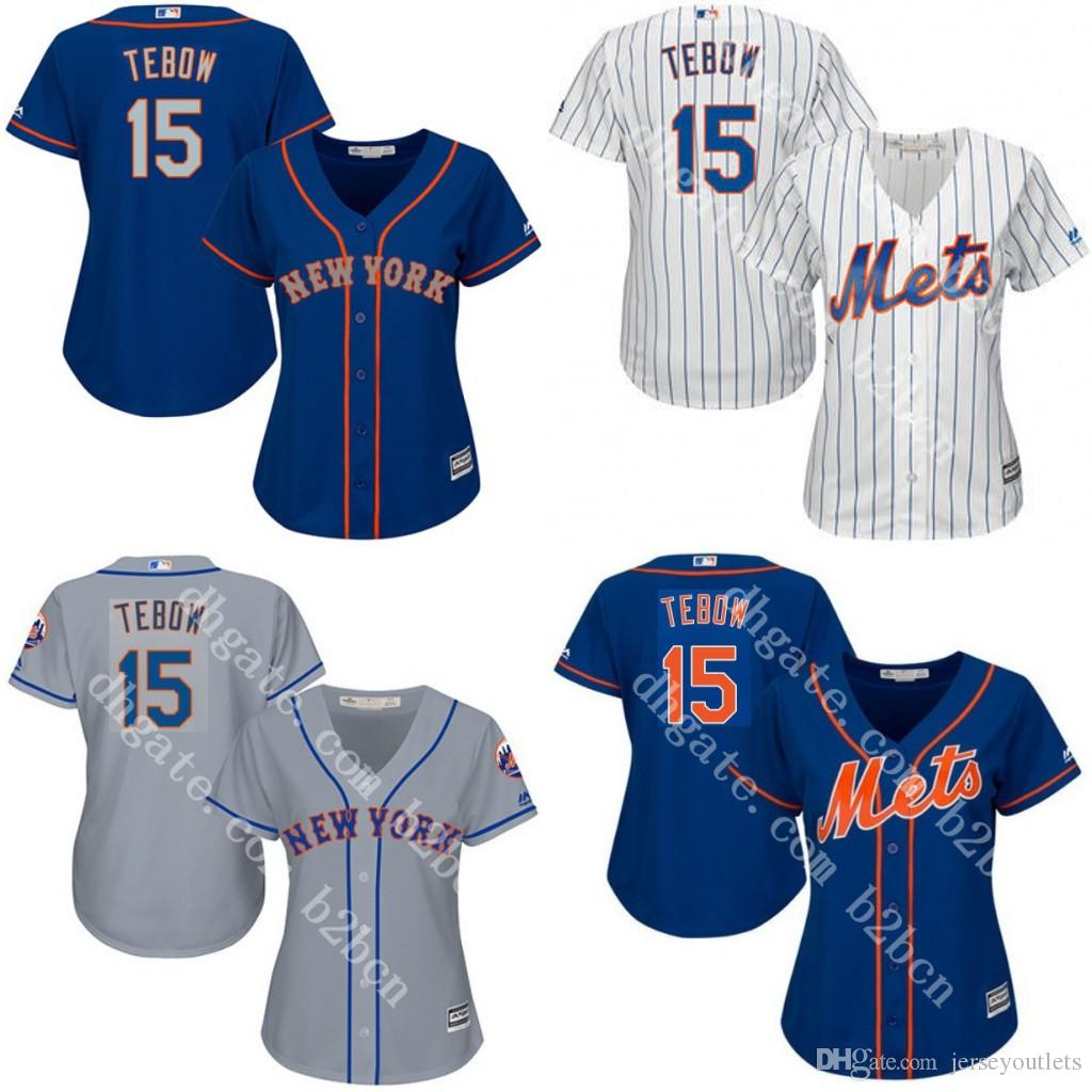 new style 5c96d 5536a mets 15 tim tebow green salute to service womens stitched ...