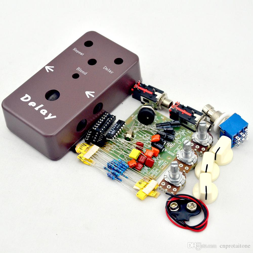 diy delay pedal kit make your own effect pedals kits and parts free ship delay pedal kit effect. Black Bedroom Furniture Sets. Home Design Ideas