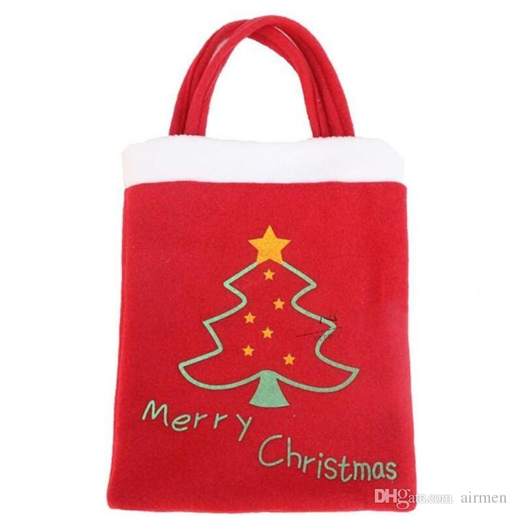 Candy Bag Handbag Party Decoration Christmas Tree Pattern Santa Claus Home Party Decoration Gift Bag Christmas Supplies Favor
