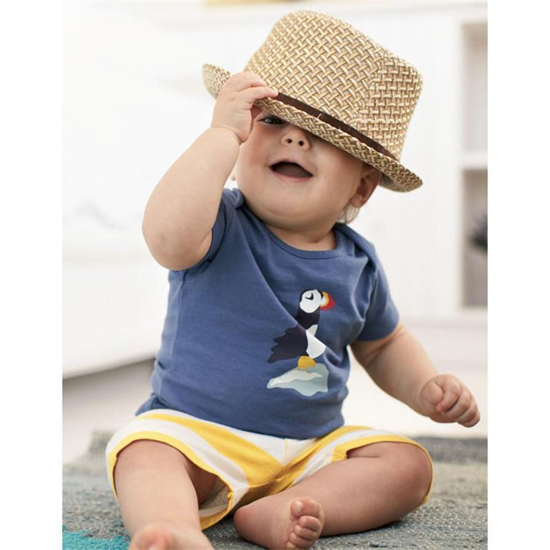 2016 verão nova roupa do bebê meninos dos desenhos animados aeronaves sailboat t-shirt + calça listrada ternos casuais define crianças roupas 3 cores k449