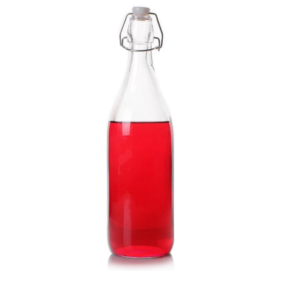 2019 Wholesale 16 Oz 32 Oz Clear Flip Ez Cap Bottle Swing Top Beer