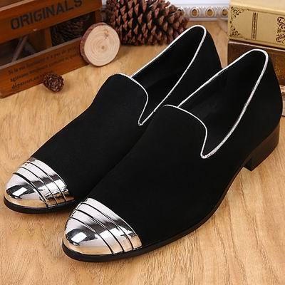 New Spring Mens Genuine Leather Boat Shoes Round Toe Charm Mens Trend Fashion Soft Nubuck Leather Shoes Slip On Flat Black Blue