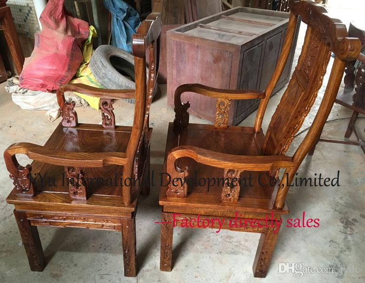 Chinese antique Living room chairs home coffee table armchair luxury wood furniture 100%100% African Red sandalwood