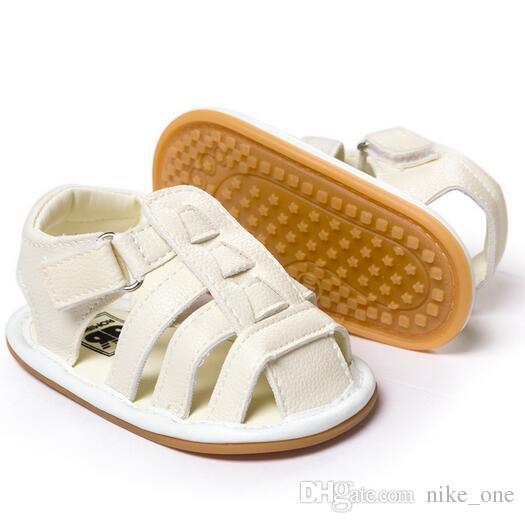 d57614c6a75 Compre Zapatos De Sandalias De Bebé Recién Nacido Mocasines De Cuero  Genuino Suela De Goma Suave Primeros Andadores De Bebé Niños Pequeños De  Verano Bebés Y ...