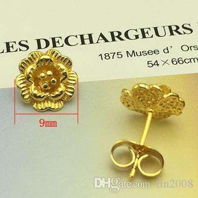 wholesale price flower stud earring stud earrings gold plated classic 2016 women wedding jewelry