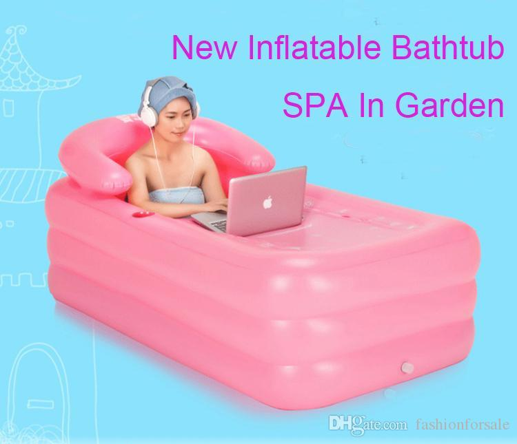 2017 New Arrival Portable Inflatable Bathtub Adult Thickened Pvc Spa  Folding Portable Bathtub Inflatable Bath Tub With Zipper Cover Bath Barrel  From ...