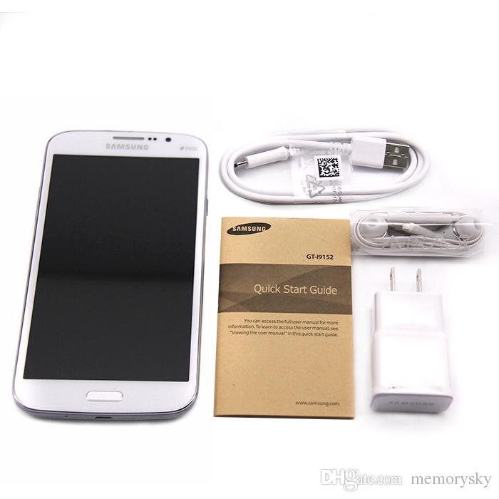 Desbloqueado original para Samsung Galaxy 5.8 Mega Reformado I9152 teléfono celular 5.8 pulgadas cámara de doble núcleo de 1,5 GB de RAM de 8 GB ROM 8MP teléfonos móviles