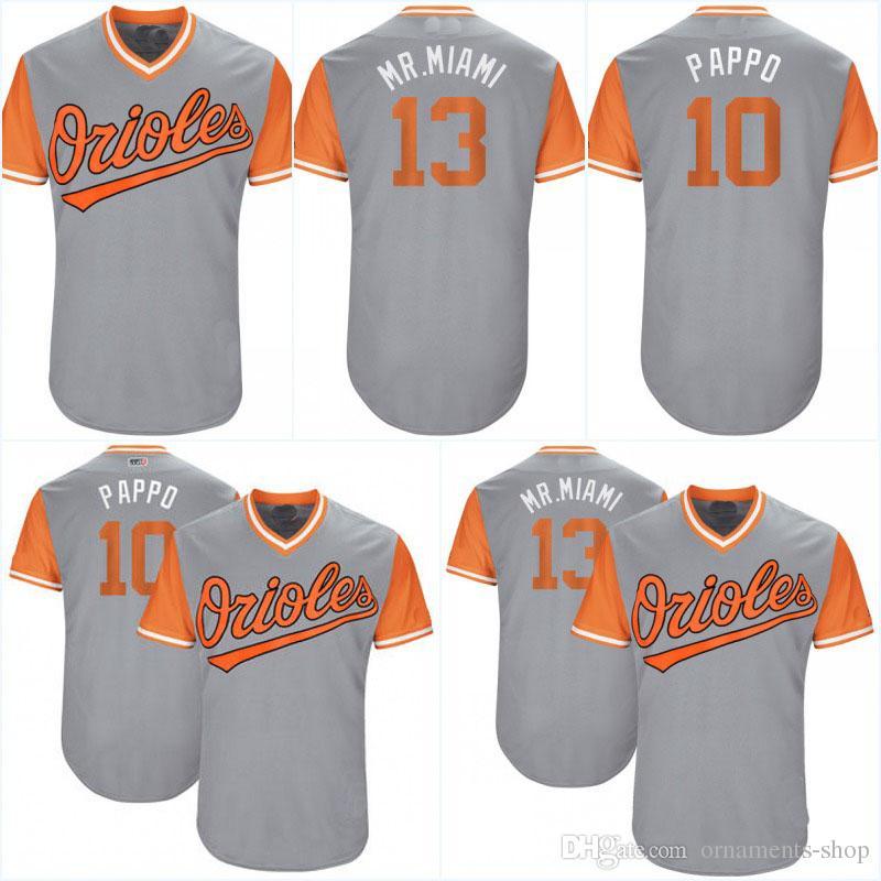 01dba7707 ... player jersey  2018 hot mens 13 manny machado mr. miami 10 adam jones  pappo baltimore orioles 2017