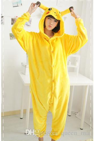 Japanese Anime Monster Pika Chu Onesies Jumpsuit Unisex Adult Sleep Party Cosplay Animal Pajamas Sleep Suit Adult Cartoon cute top Nightgown