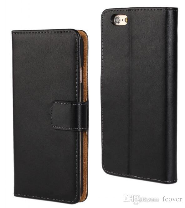 For iphone XS Max XR Wallet Case,New Book Style Stand Genuine Leather Cases Card Flip Cover For iphone 7 Plus Cases