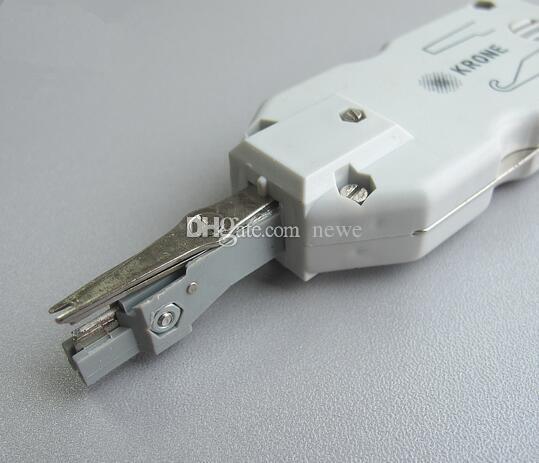 Nuevo Llega el cuchillo cortador de alambre de krone corto clásico Cortador de alambre a presión Cable de red Teléfono Alicates de telecomunicaciones Herramienta de alambre de cuchillo de enganche Módulo de corona