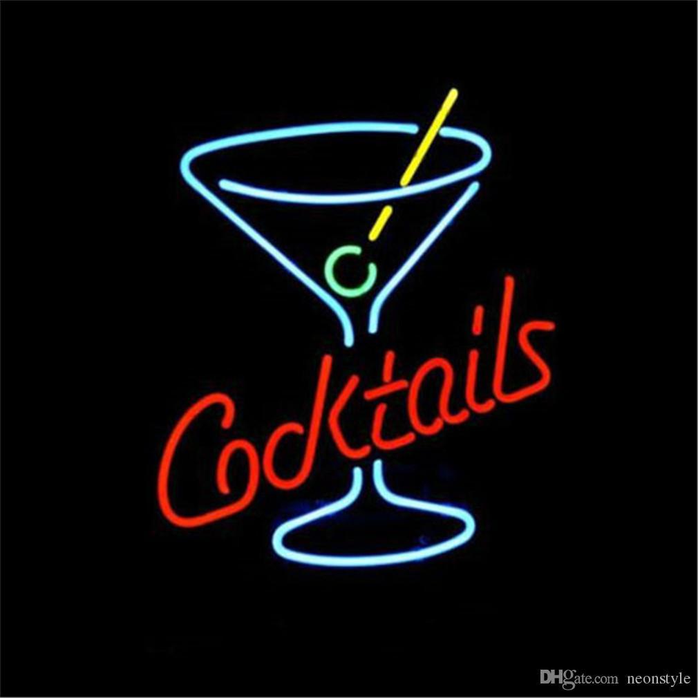 2018 cocktails martini logo neon sign custom store display