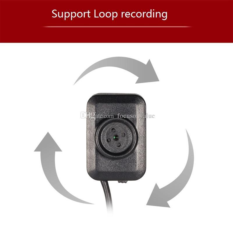 Microfono Full HD 1080P Micro pulsante Camera Mini DVR Supporto registrazione loop Con cavo USB lungo Mini telecamera di sorveglianza di sicurezza w1