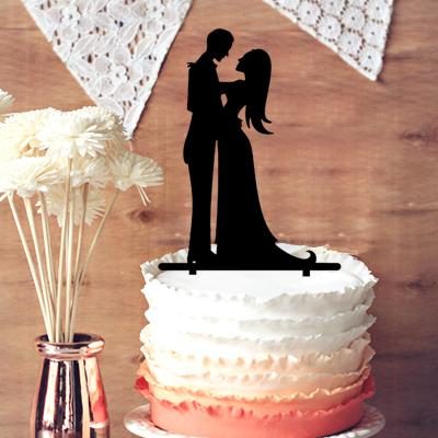 Romantic Wedding Cake Toppers Groom And Bride Silhouette Cake
