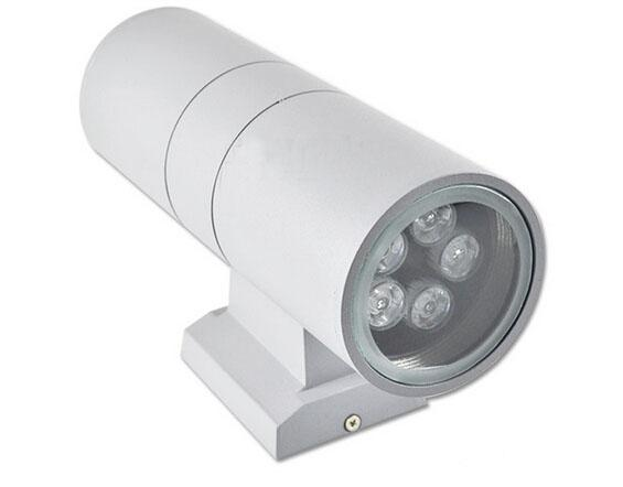 10W Aplique de pared LED Arriba Abajo Bombilla Lamparas AC 110V 220V Jardín al aire libre Iluminación Impermeable IP65 Cilindro Lámpara Porche 10 vatios / DHL