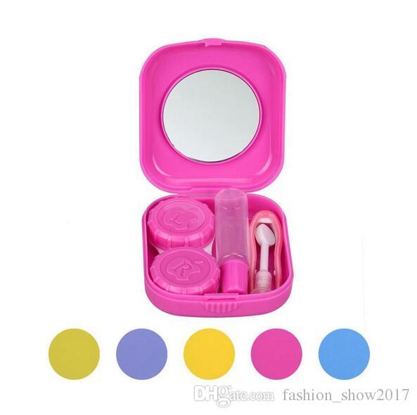 Kit da viaggio Porfessional Mini Mirror lenti a contatto Custodia da trasporto Custodia contenitore