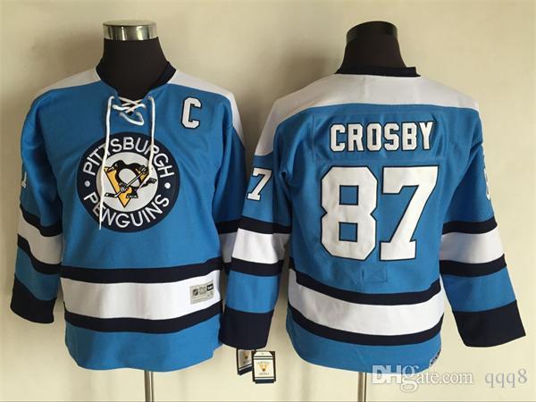 2016 Youth Kids CCM Pittsburgh Penguins Ice Hockey Jerseys Cheap  87 Sidney  Crosby Boys Jerseys Authentic Retro Jerseys UK 2019 From Qqq8 0752f4847