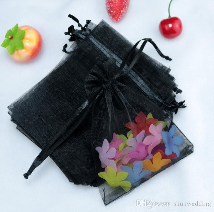 100ps9x12cm Jewelry Gift Organza Bags Wedding Favors Candy Pouches Home Party Decoration Crafts Pack Festive Supplies
