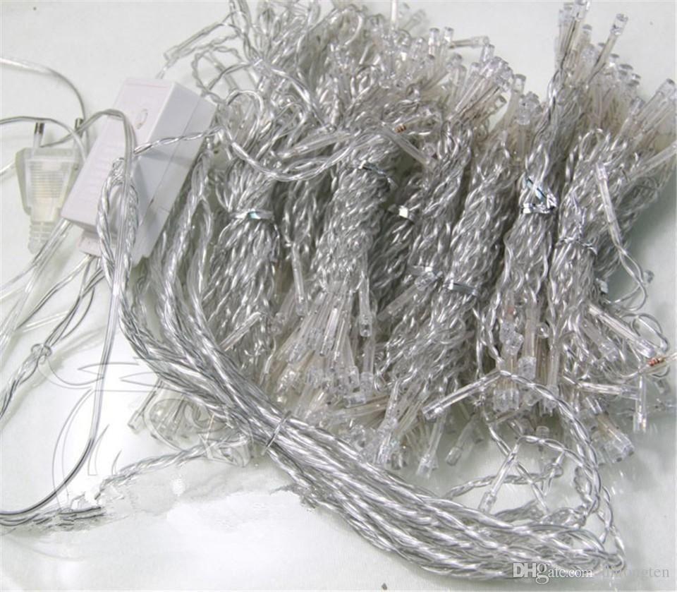 1000 LEDS 10*3m Curtain Lights, Christmas ornament lights,Flash Colored Fairy wedding Decoration LED Strip Light