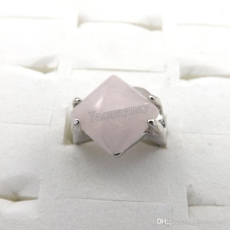 Mix Men's Rings Natural Stone Rings For Natural Stone Collection Lovers Wholesale