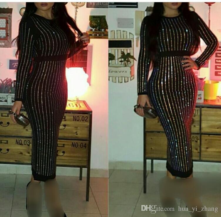 ブラックビーズのイブニングドレス2016シースジュエル長袖ティーレングスジッパーバックサウジアラビア語フォーマルウエディングドレス