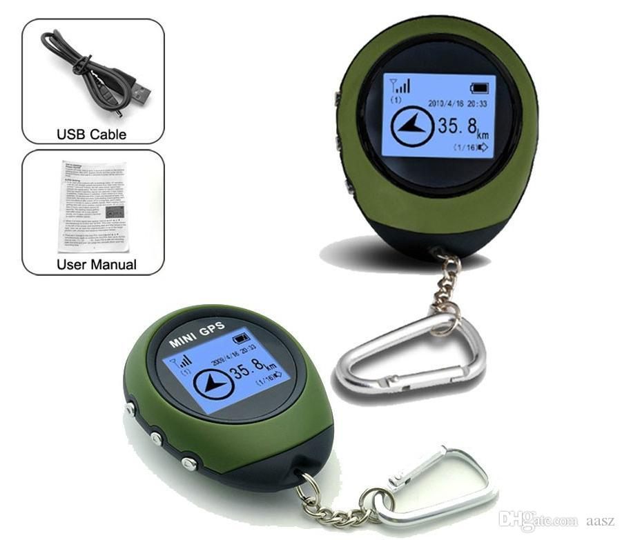 Mini GPS Tracker Locator Finder Navigation Receiver Handheld USB Rechargeable with Electronic Compass for Outdoor Travel
