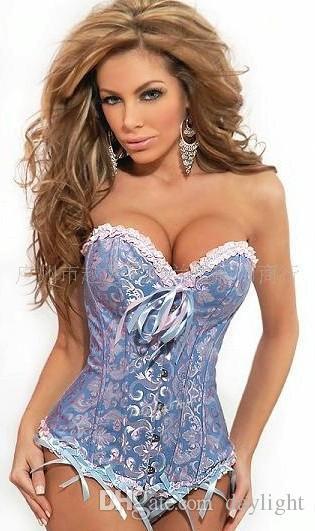 Corsetto sexy da sposa Lingerie Corsetti da sposa Body Shaper Boned Bustier Plus Size Vita Training Corsetti lace up corsetto gotico XS-6XL