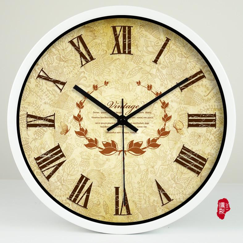 American Style Patterns of Baroque Art Living Room Decorative Clock ...