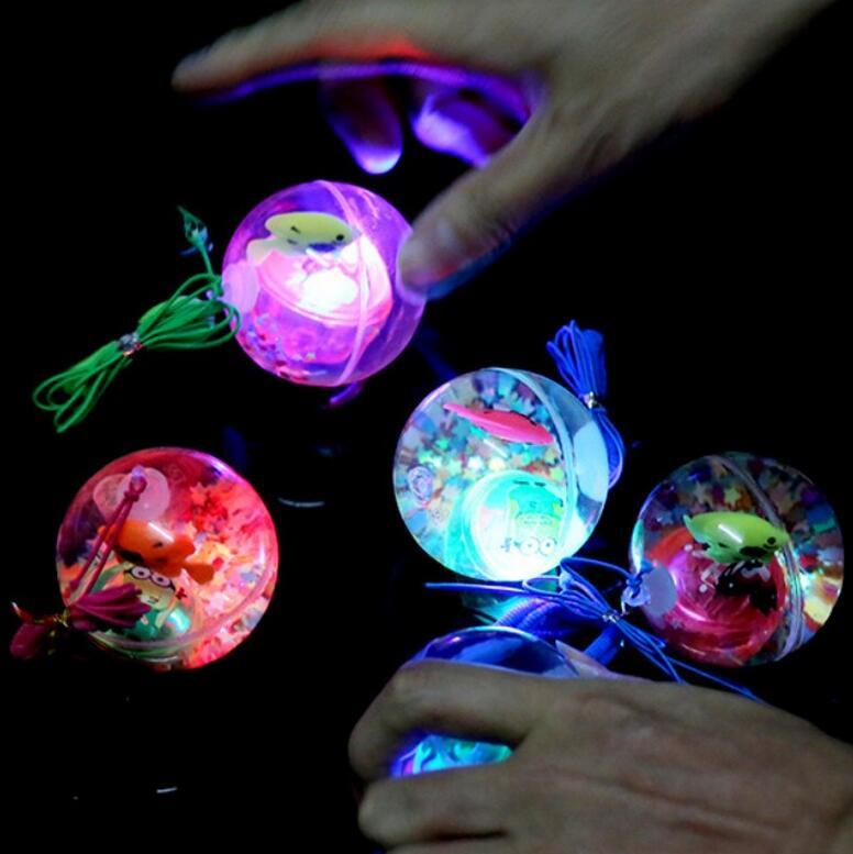 Stalls Hot Sale 5.5CM Big Bouncing Balls Transparent LED Flash Bouncing  Balls Colorful Fish Light Up Jumping Balls Angry Bird Cartoon Balls  Birthday ...