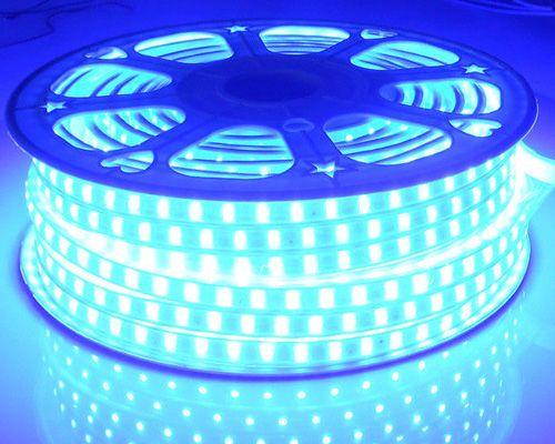 Einzelnes Farbhochspannung AC110V AC220V flexibles geführtes Streifen-Licht IP65 imprägniern SMD3528 60LEDS Streifen-Licht 4.8W / M 100M / Rolle