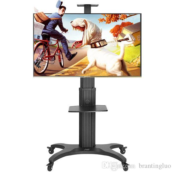 NB AVF1500-50-1P Aluminum Alloy 32~50 inch Moveable TV Trolley Flat Panel LED LCD Plasma TV Cart with AV shelf and Camera Holder