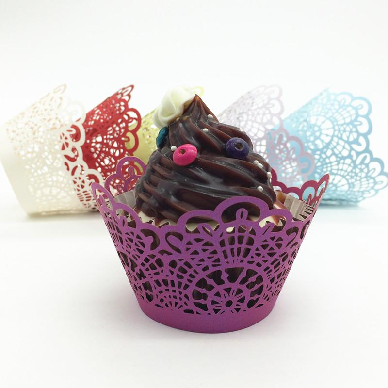 Blue lace rutic valentine's day wed cupcake wrappers color paper mini cupcakes cup cake baking cups wrapper
