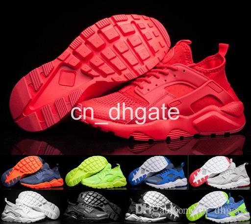 big sale fb200 10a01 Acquista 2016 Air Huarache Ultra Breathe All Red Mesh Hurache Scarpe Da  Corsa Uomo Donna Huaraches Trainer Athletics Huraches Sneakers Taglia 36 46  A  83.84 ...