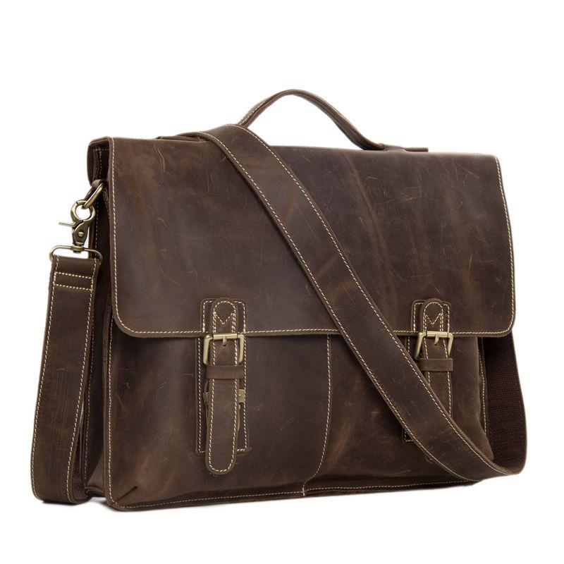 4bc56e49e9 Wholesale High Class Men S Italian Leather Messenger Bag 15laptop Briefcase  Shoulder Bag 7037 Saddleback Bags Leather Shoulder Bags From Pinkvvv