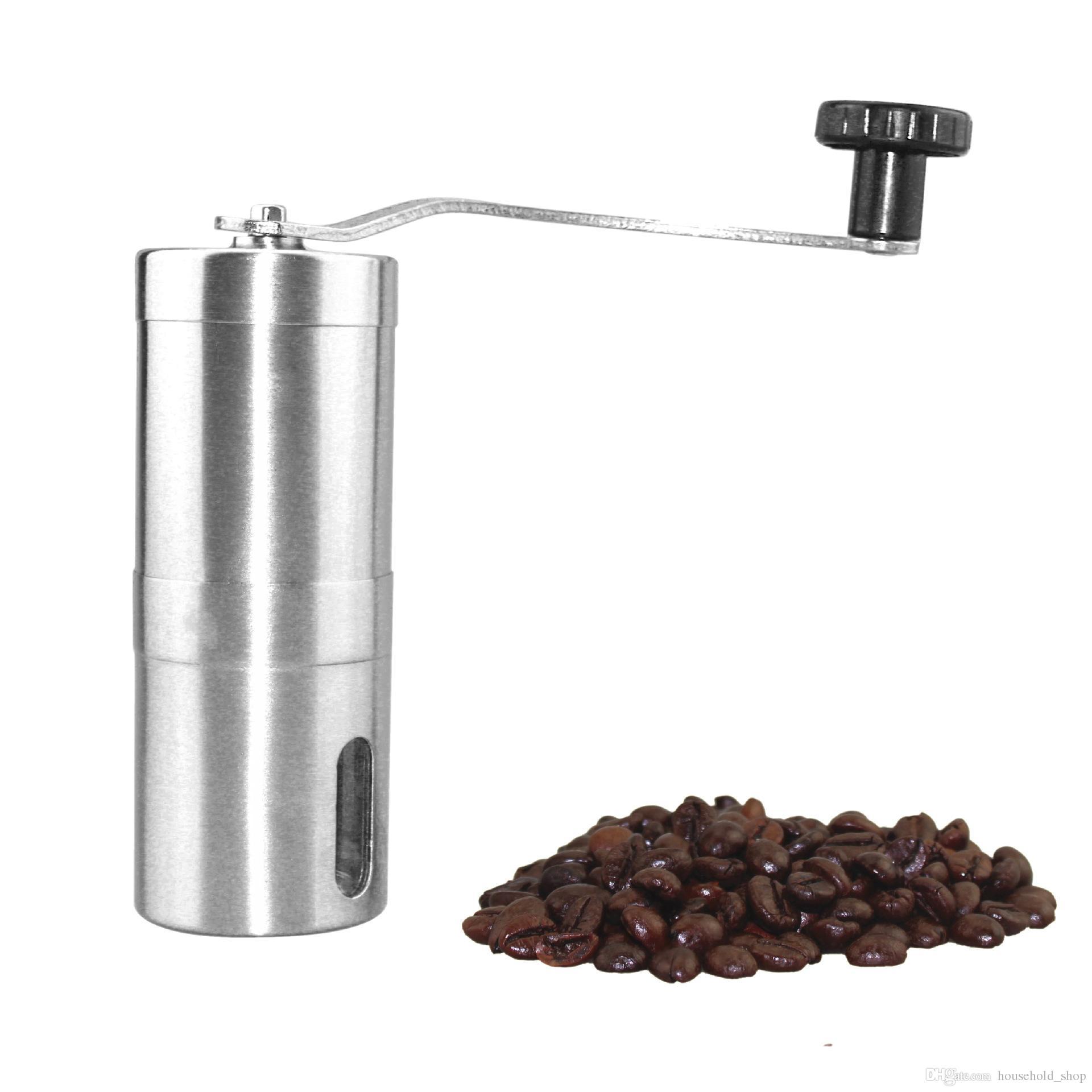 Moedor De Café Moedor Manual Grinder Ferramentas De Moagem De Cozinha Portátil de Aço Inoxidável Perfumaria Café Bar Handmade Apoio OEM Frete Grátis