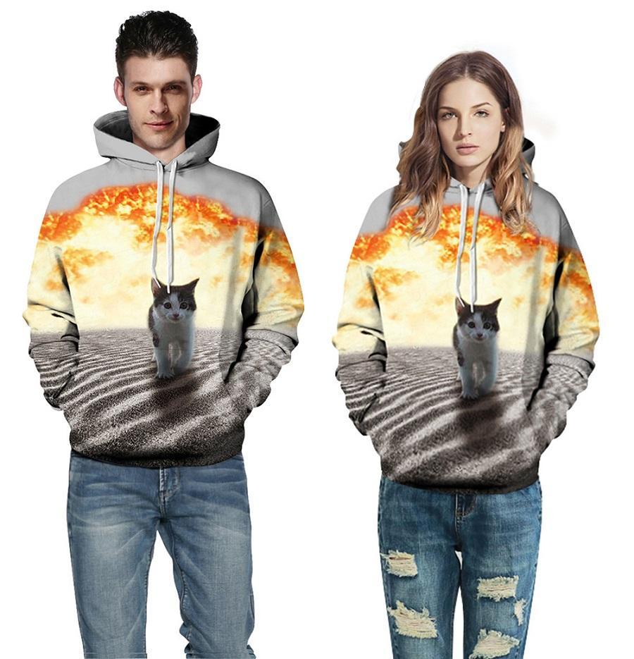 vêtements pour couples Sweats à capuche, hoodies 3D imprimés de précision pour hommes / femmes