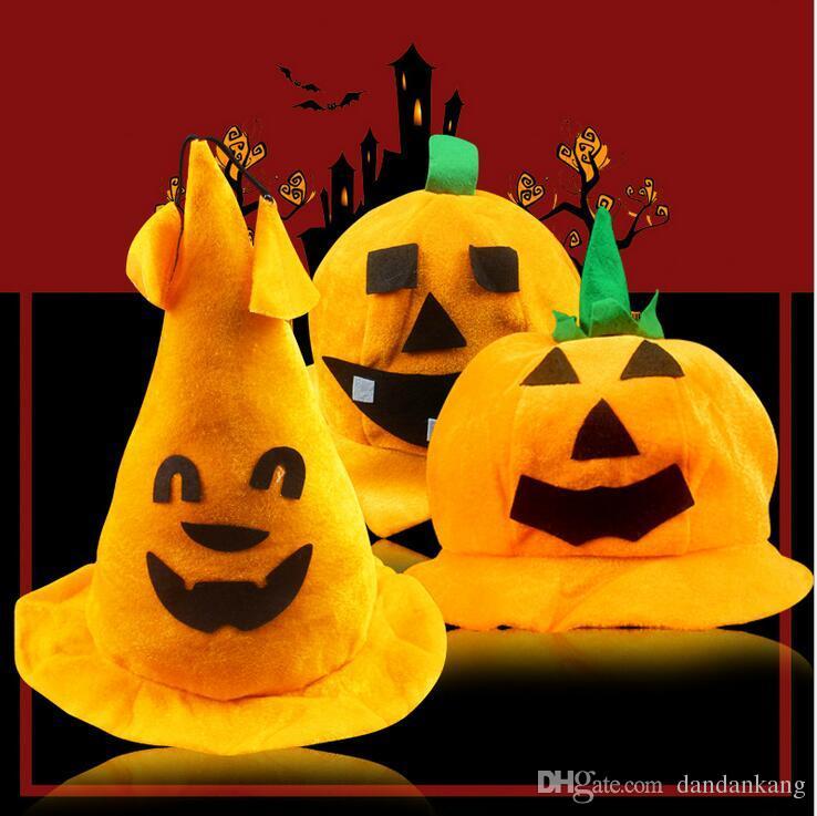 Хэллоуин тыквы Hat Cosplay Желтый Маскарад игры партия Танцор этапа Performing костюм реквизит фестиваль подарок